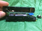 <p>Dapol class 26 with lighting problem, it's easy to see why as the remaining wires were only held on by glue!																																																																																																																																																																																																																													</p>