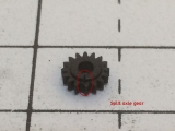 <p>This gear is roughly 6 mm in diameter, making it hard to locate any cracks. The split in this gear has been circled.																																																																																																																																																																																																																													</p>