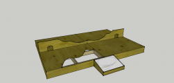<p>This is a CAD design for my baseboard, consisting of 4 sections that will form two crates</p>