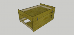 <p>The first baseboard crate, minus the legs.</p>