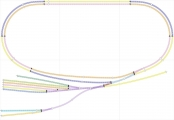 <p>N gauge track plan for my layout, called Winkleigh T&RSMD</p>