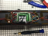 <p>Top view of the neat wiring to the decoder.																																																																																																																																																									</p>