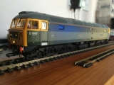 <p>OO gauge Heljan class 47 sound conversion with cab lights & driver in one cab. The directional lights on this loco have been upgraded to LED's.																																																																																					</p>