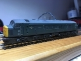 <p>N scale peak 'D1' on the test track after a DCC conversion, this chassis performs very well on DCC																																		</p>
