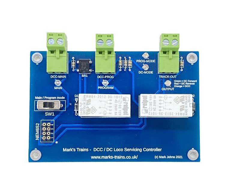 Mark's Trains DCC DC Locomotive Servicing Controller