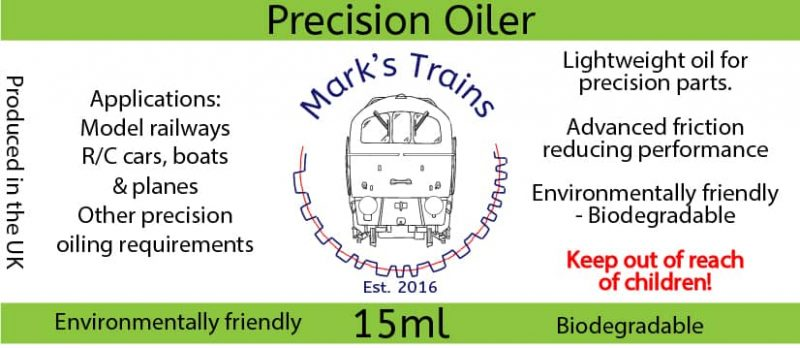 Mark's Trains Biodegradable 15ml Precision Oiler